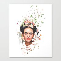frida Canvas Prints featuring Frida by Tracie Andrews
