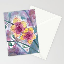Moth Orchid Splatter Stationery Cards