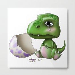 Baby Dino Metal Print