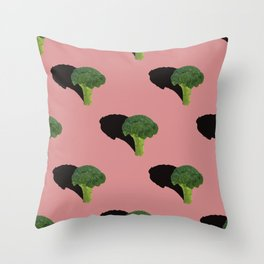 Broccoli Pattern Throw Pillow