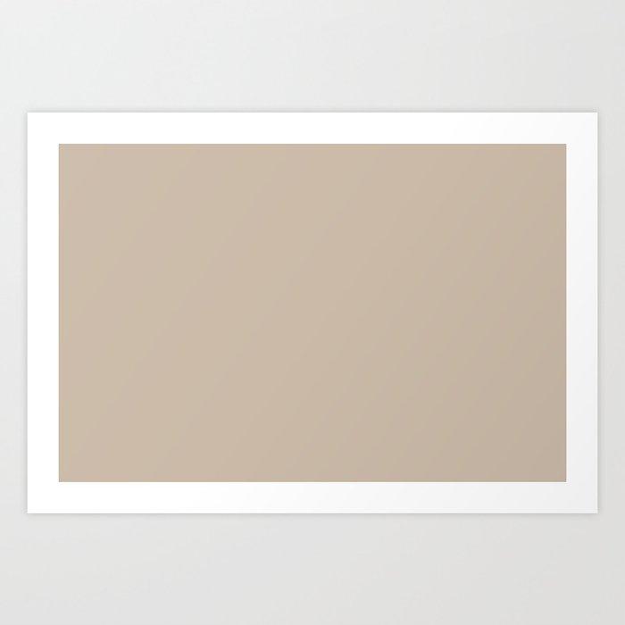 Best Seller Sherwin Williams Trending Colors of 2019 Dhurrie Beige SW 7524 Solid Color - Hue - Shade Kunstdrucke
