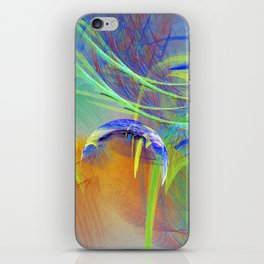 Chaotic worlds collide iPhone Skin