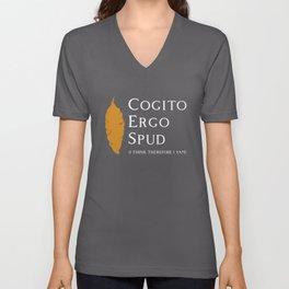 Cogito Ergo Spud (I think therefore I Yam) Sweet Potato Unisex V-Neck