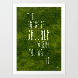 Greener Art Print