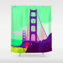 Golden_Gate_Bridge_005 Shower Curtain
