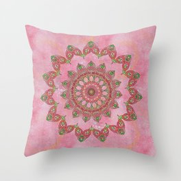 Knotted Floral Throw Pillow