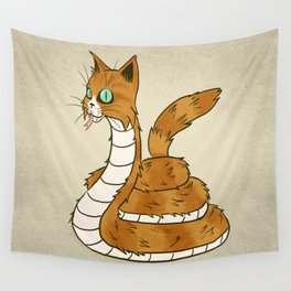 Cat Snake Wall Tapestry