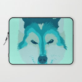 husky - teal Laptop Sleeve