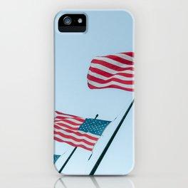 United States Star spangled banner national flag half-mast on September 11 | USA Travel photography iPhone Case