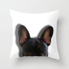 French Bulldog Peekaboo Throw Pillow