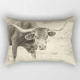 The Texas Longhorn Rectangular Pillow