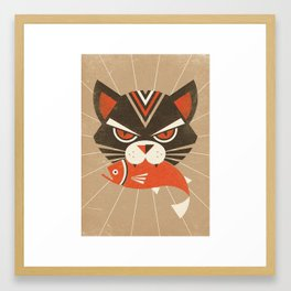 The Demon Cat (Fairy and Folk Tales of the Irish Peasantry) Framed Art Print