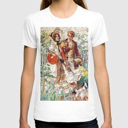 12,000pixel-500dpi - Joseph Christian Leyendecker - Garden Walk - Digital Remastered Edition T-shirt