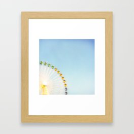 """by the big wheel generator"" Framed Art Print"