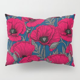 Night poppy garden  Pillow Sham