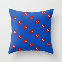 spider man Throw Pillows featuring Spider.  Man.   by Designs By Misty Blue (Misty Lemons)