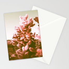 Glowing Cactus Purple Chrome  Stationery Cards