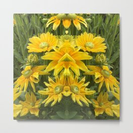 Duck Billed Dahlia Metal Print