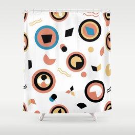 Circles and irregular shapes pattern Shower Curtain