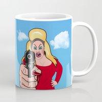 sexy Mugs featuring PINK FLAMINGO  by mark ashkenazi