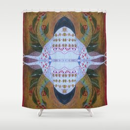 Bug with horns Shower Curtain