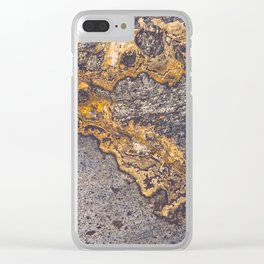 Gold Inlay Marble II Clear iPhone Case