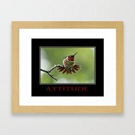 Inspirational Attitude Framed Art Print