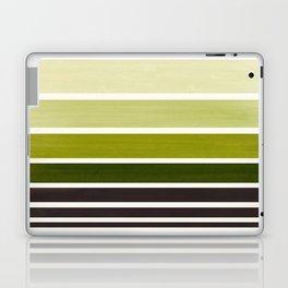 Olive Green Minimalist Watercolor Mid Century Staggered Stripes Rothko Color Block Geometric Art Laptop & iPad Skin