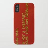 math iPhone & iPod Cases featuring Math by Kait & Court