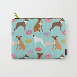 Boxer donuts cute gifts for pure breed dog lover Boxers dog owners Carry-All Pouch