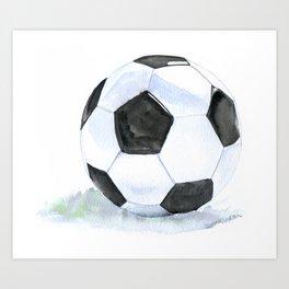 Soccer Ball Watercolor Art Print