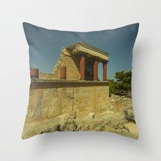 Knossos Palace Throw Pillow
