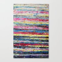 knitting Canvas Prints featuring Knitting by Asta Buteniene