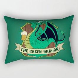 The Green Dragon Pub Rectangular Pillow
