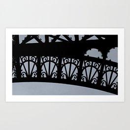 Detail of the Eiffel Tower Art Print