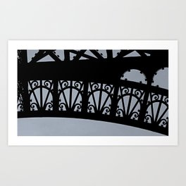 Detail of the Eiffel Tower Art Print
