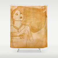 pocahontas Shower Curtains featuring Pocahontas by Sierra Christy Art