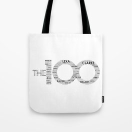 The 100 - Typography Art [black text] Tote Bag