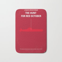 No198 My The Hunt for Red October minimal movie poster Bath Mat