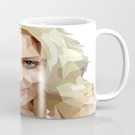 Scarlett Johansson Low Poly Art Coffee Mug