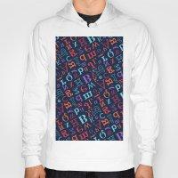 alphabet Hoodies featuring Alphabet  by cactus studio
