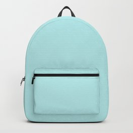 Pastel Turquoise Blue Solid Color Block Backpack