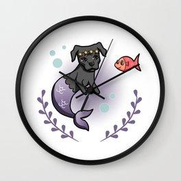 Mermaid Pit Bull 2 Wall Clock