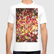 Leafs White Mens Fitted Tee MEDIUM