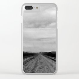 Slippery Road Clear iPhone Case