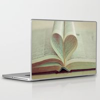 literary Laptop & iPad Skins featuring i heart books by shannonblue