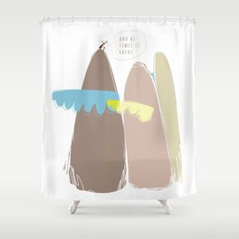 And at times it rains Shower Curtain