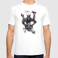 Kaworu Nagisa the Sixth. Rebuild of Evangelion 3.0 Digital Painting. MEDIUM White Mens Fitted Tee