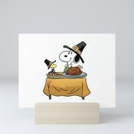 Thanks giving Snoopy Mini Art Print