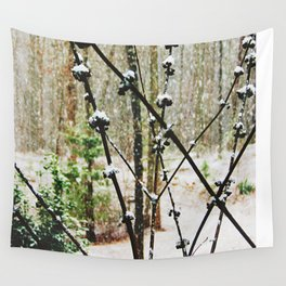 Snow Berry Wall Tapestry